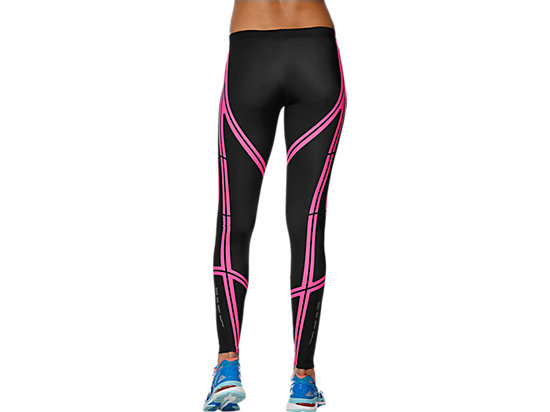 Lauf-Tights stützend für Damen PERFORMANCE BLACK/DIVA PINK 19 BK