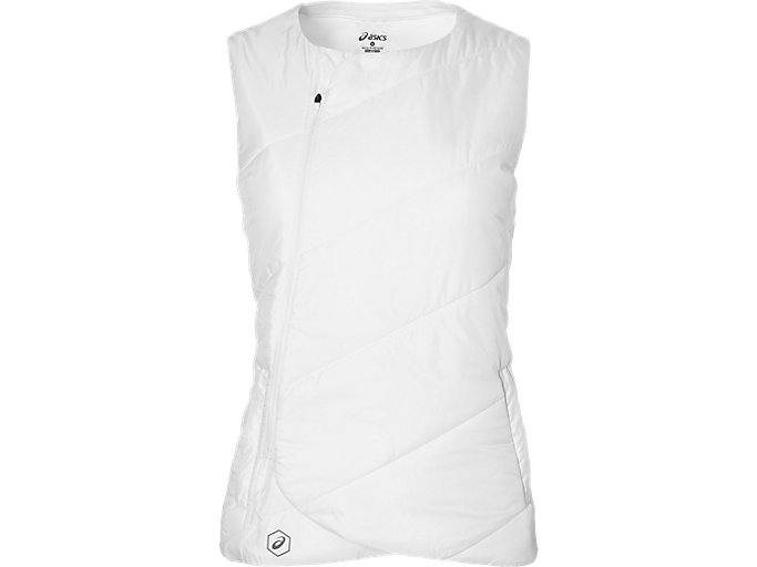 Front Top view of W FUZEX PADDED VEST, REAL WHITE