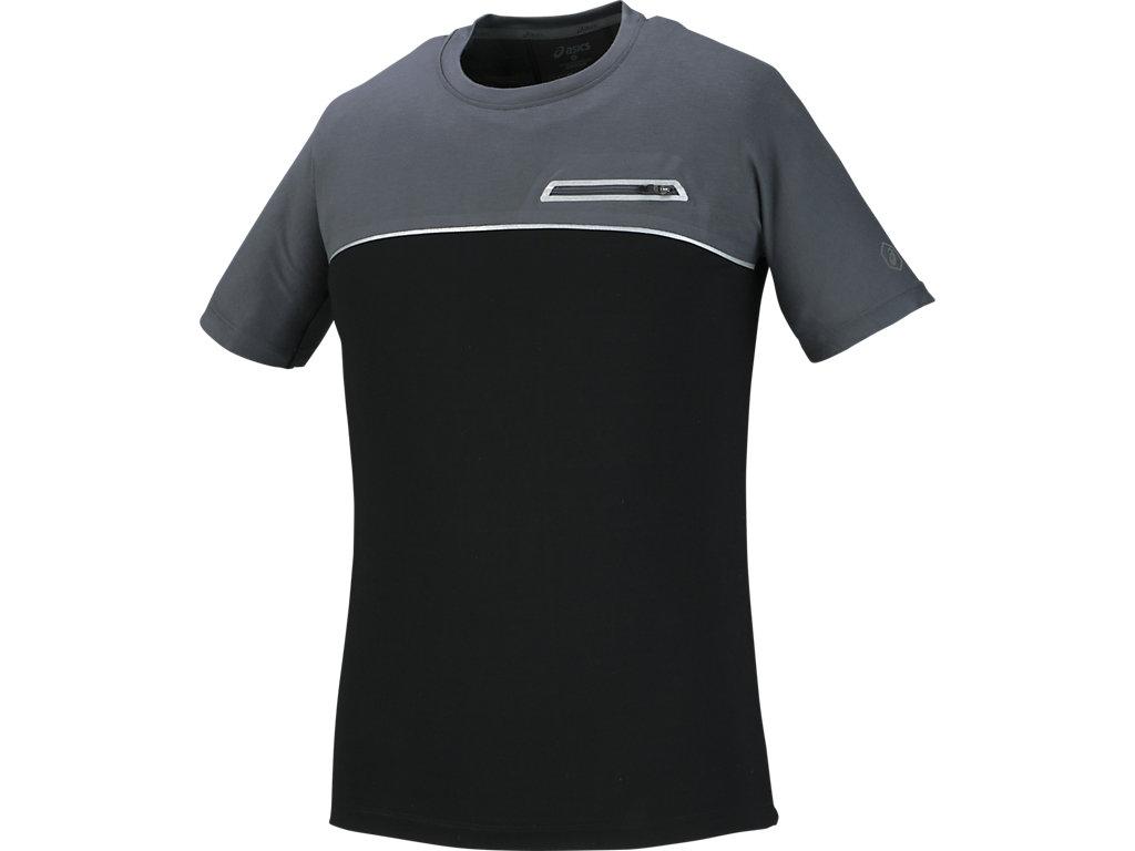 【ASICS/アシックス】 ランニングTシャツ ダークグレー メンズ_145351