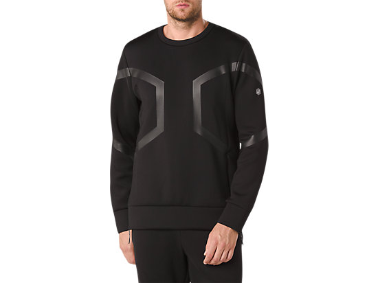 HEXAGON CREW TOP, Performance Black
