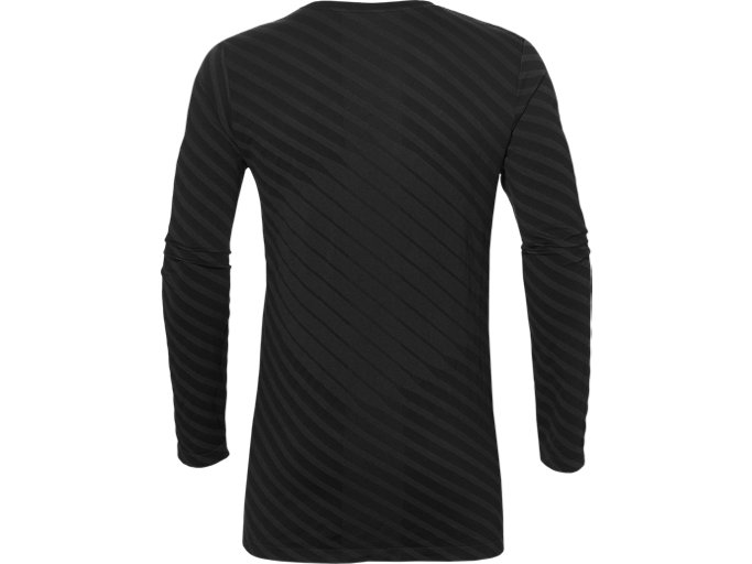 Back view of SEAMLESS LS TOP, PERFORMANCE BLACK