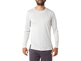 Brushed Long-Sleeved Crew Top