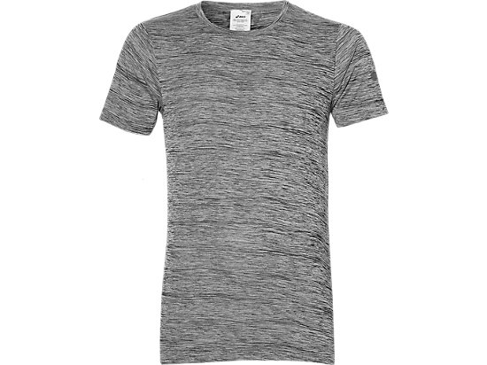 HEATHER SHORT-SLEEVED TOP, Charcoal Grey Heather