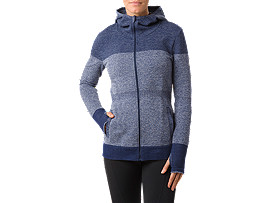 SEAMLESS JACKET, Indigo Blue