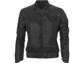 Front Top view of TECH JACKET, Performance Black