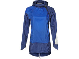 Front Top view of LIGHT WEIGHT ANORAK, BLUE PURPLE