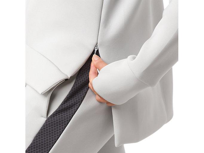Alternative image view of CREW NECK PULLOVER, ASH GREY HEATHER