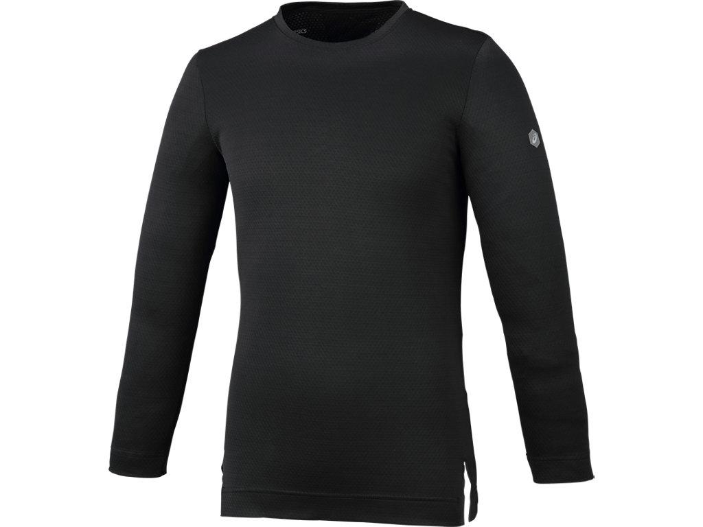 トレーニング長袖シャツ:パフォーマンスブラック