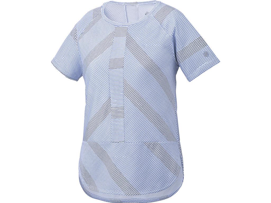 【ASICS/アシックス】 W'SトレーニングTシャツ ブルーパープル レディース_146462