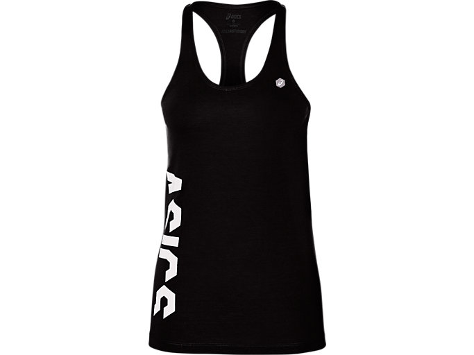 Front Top view of GPX TANK TOP, PERFORMANCE BLACK
