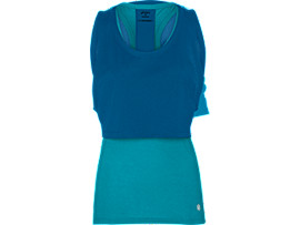 Front Top view of LAYERED TANK TOP, ARCTIC AQUA