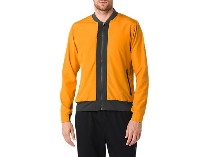 Front Top view of FUZEX BOMBER JACKET, Golden Amber