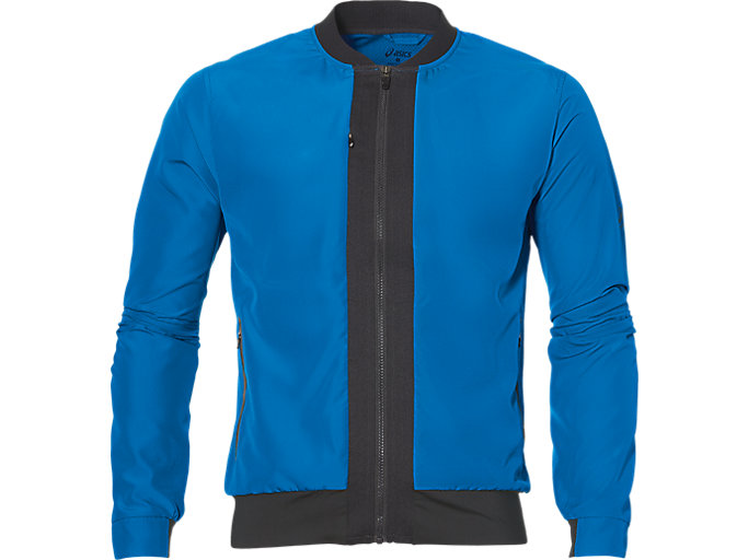 Front Top view of FUZEX BOMBER JACKET, Directoire Blue