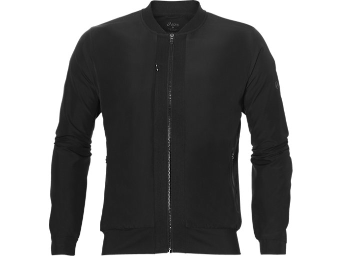Front Top view of FUZEX BOMBER JACKET, Performance Black