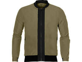 Front Top view of FUZEX BOMBER JACKET, Martini Olive