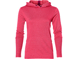 FUZEX CROSS-BACK HOODIE, Cosmo Pink Heather