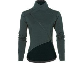 Front Top view of fuzeX KNIT JACKET, HAMPTON GREEN
