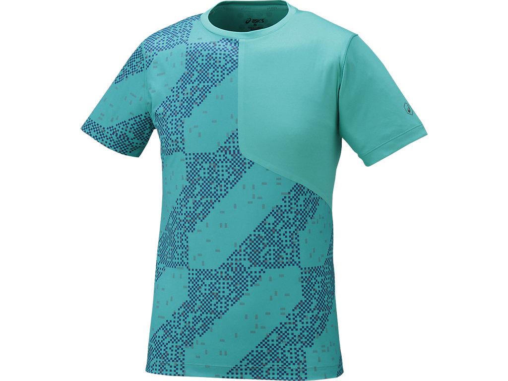 【ASICS/アシックス】 ランニングTシャツ(LITE-SHOW) ライトストライプラピス メンズ_146636