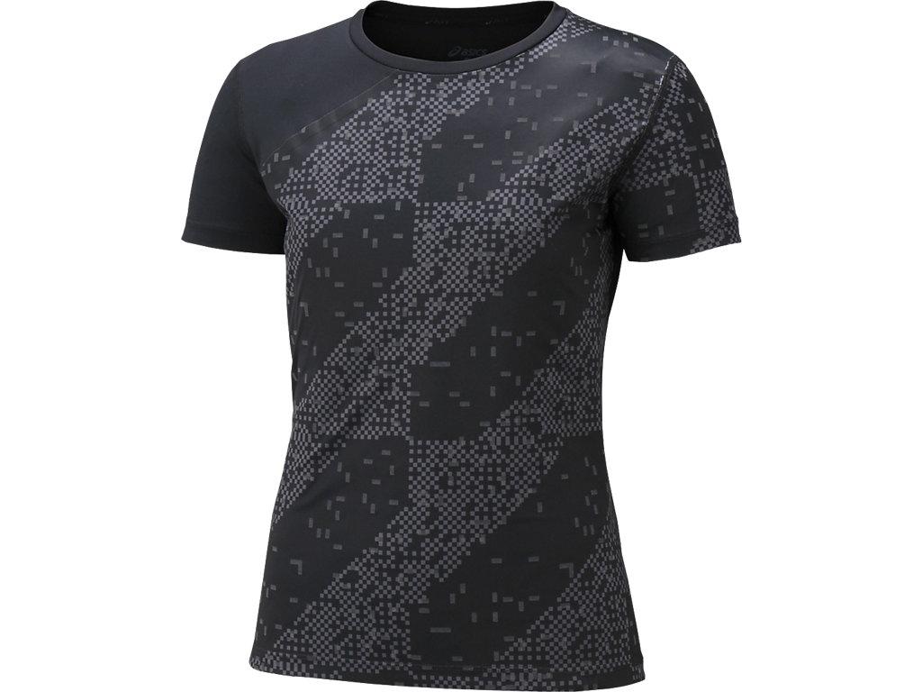 【ASICS/アシックス】 W'SランニングTシャツ(LITE-SHOW) ライトストライプブラック レディース_146647