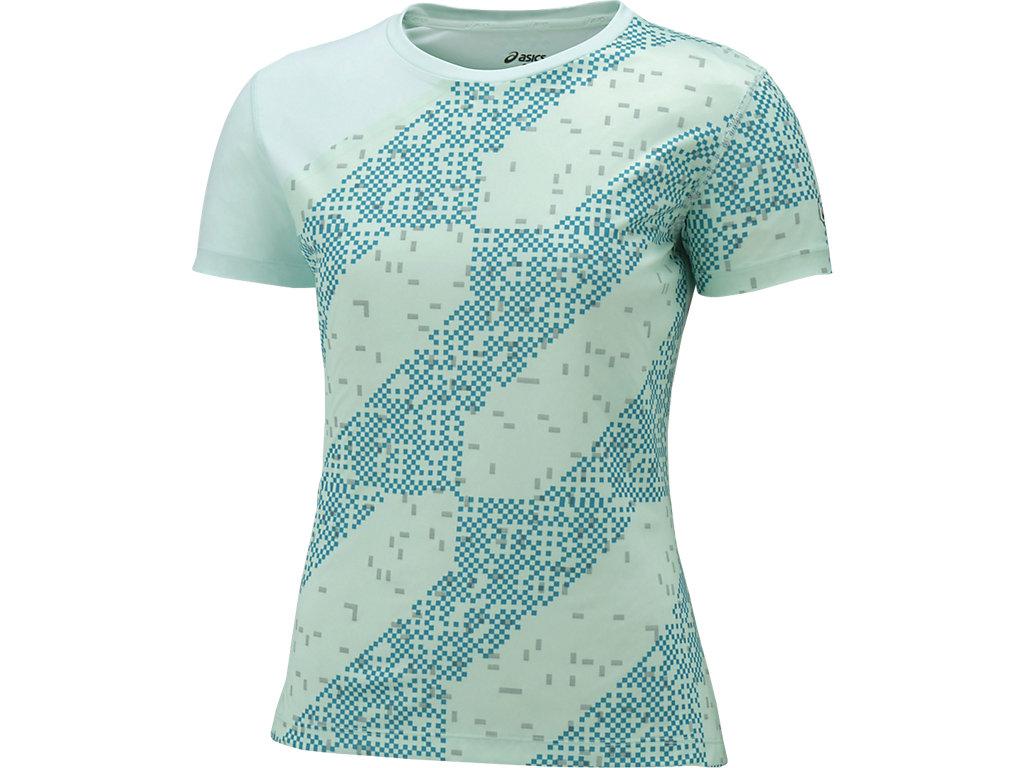 【ASICS/アシックス】 W'SランニングTシャツ(LITE-SHOW) ライトストライプグレーシアシー レディース_146647
