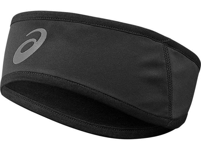 Front Top view of WINTER HEADBAND, PERFORMANCE BLACK