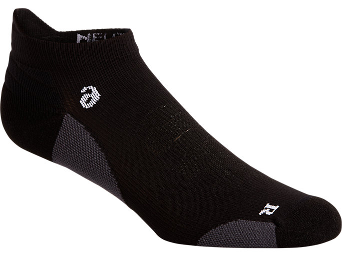 Front Top view of ROAD NEUTRAL ANKLE SINGLE TAB, PERFORMANCE BLACK/ MID GREY