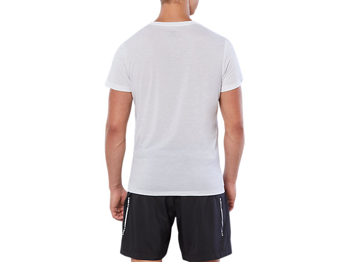 Back view of SPORT TRAIN TOP, REAL WHITE