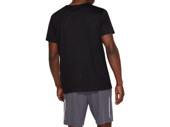 Back view of SPORT TRAIN TOP, PERFORMANCE BLACK