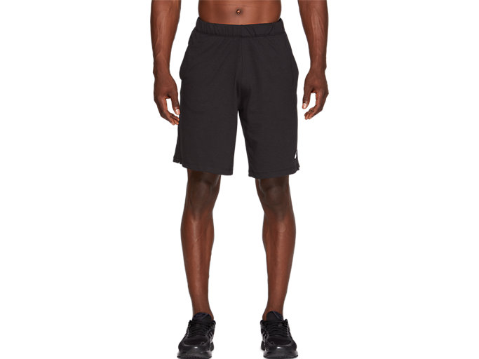 Front Top view of SPORT TRAINING SHORT, PERFORMANCE BLACK