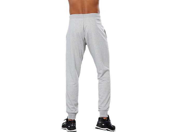 Back view of SPORT KNIT PANT, HEATHER GREY