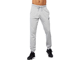 Front Top view of SPORT KNIT PANT, HEATHER GREY