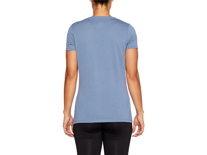 Back view of SPORT TRAIN TOP, STEEL BLUE