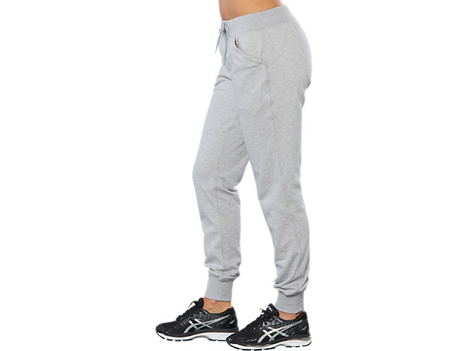 Side view of SPORT KNIT PANT, HEATHER GREY