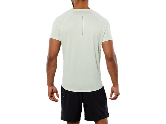 Back view of SPORT RUN TOP, SPROUT GREEN