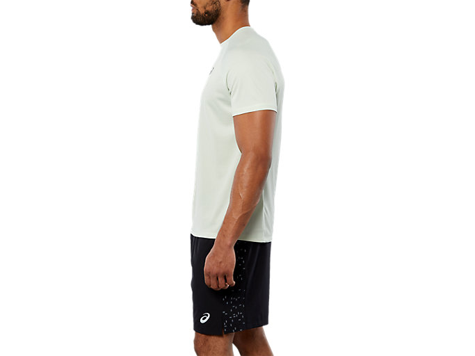 Side view of SPORT RUN TOP, SPROUT GREEN