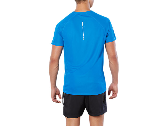 Back view of SPORT RUN TOP, DIRECTOIRE BLUE