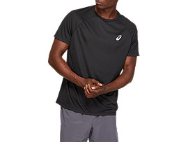 SPORT RUN TOP, PERFORMANCE BLACK