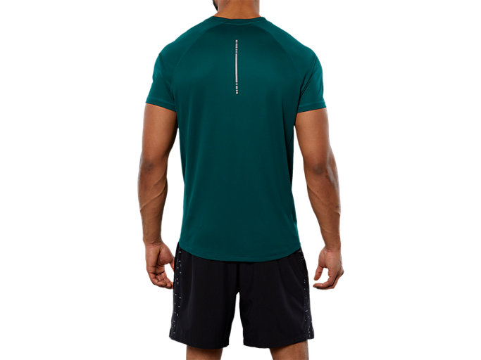 Back view of SPORT RUN TOP, EVERGLADE