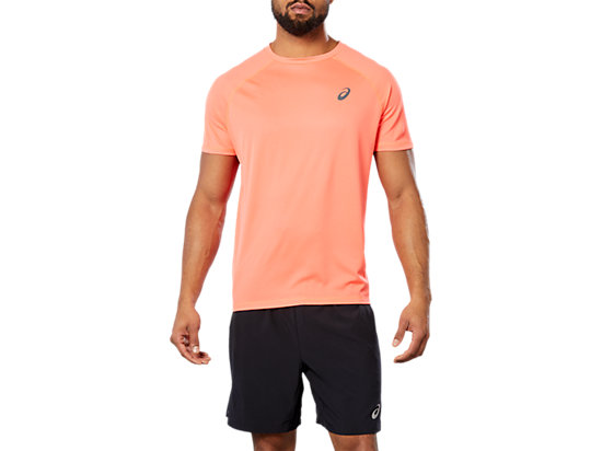 SPORT RUN TOP, FLASH CORAL