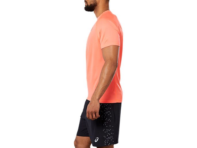 Side view of SPORT RUN TOP, FLASH CORAL