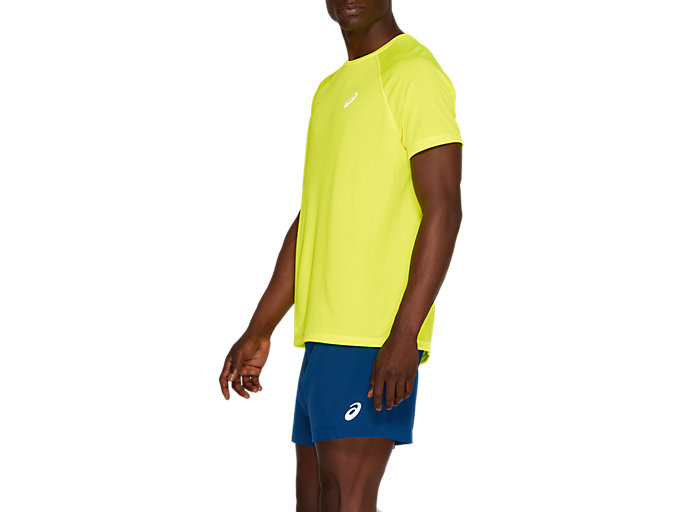 Side view of SPORT RUN TOP, SAFETY YELLOW