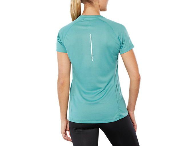 Back view of SPORT RUN TOP, SAGE
