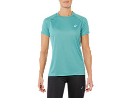 Front Top view of SPORT RUN TOP, SAGE