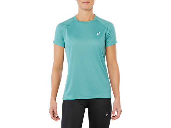 Women's SPORT RUN TOP | SAGE | Camisetas de manga corta ...