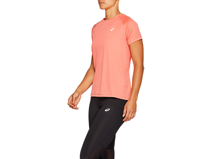 Side view of SPORT RUN TOP, PAPAYA