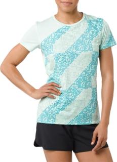 女士运动LITE-SHOW印花短袖T恤