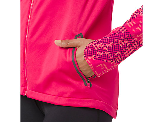LITE-SHOW WINTER JACKET Lite Stripe Cosmo Pink