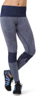 女式运动无缝拼接紧身裤