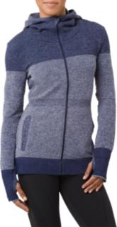 女式运动无缝拼接夹克