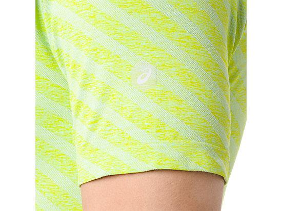 男式运动无缝拼接短袖T恤 亮绿色